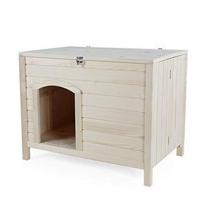 Petsfit No Assembly Indoor Wooden Dog House for Small Dogs dog house  Kaulana Pets