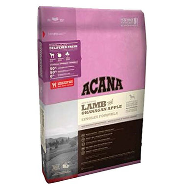 Acana Singles Limited Ingredient Diet Lamb and Apple Formula Dry Dog Food 25 lb dog food  Kaulana Pets