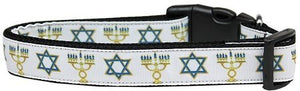 Mirage Pet Products Jewish Traditions Nylon Dog Collar, Medium - Kaulana Pets