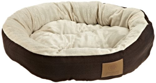 AKC Casablanca Round Solid Pet Bed - Kaulana Pets