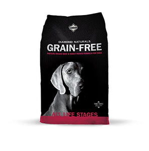 Diamond Naturals Grain Free Real Meat Recipe Premium Dry Dog Food With Real Pasture Raised Beef 28Lb - Kaulana Pets