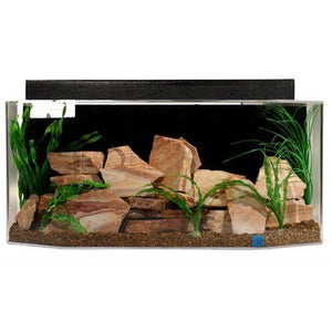 "SeaClear 26 gal System II Flat Back Hexagon Acrylic Aquarium, 36 by 12 by 16"", Cobalt Blue"