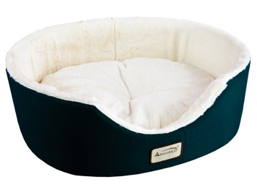 Armarkat Pet Bed 22-Inch by 19-Inch Oval, Laurel Green - Kaulana Pets