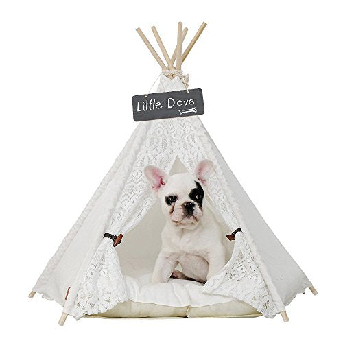 Little Dove Pet Teepee Dog & Cat Bed - Kaulana Pets