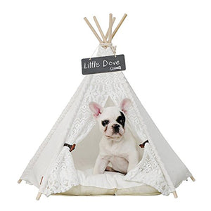 Little Dove Pet Teepee Dog & Cat Bed dog bed  Kaulana Pets