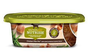 Rachael Ray Nutrish Natural Wet Dog Food, Chicken Paw Pie, Grain Free, 8 oz tub, Pack of 8 - Kaulana Pets