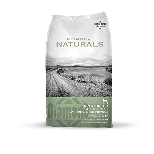 Diamond Naturals Adult Large Breed Real Meat Recipe Premium Dry Dog Food With Real Pasture Raised Lamb Protein 40Lb - Kaulana Pets