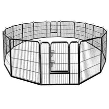 "Giantex 40"" 16 Panel Pet Playpen with Door, Foldable Dog Exercise Pen, 13ft x 8ft Configurable Freestanding Cat Duck Chicken Rabbit Fence, Outdoor & Outdoor, Metal Pet Exercise Fence Barrier Kennel - Kaulana Pets"