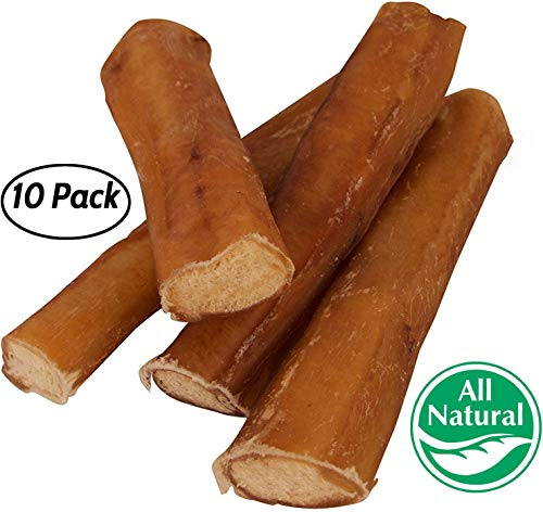 "5"" Straight Bully Sticks for Dogs [Large Thickness] (10 Pack) - Natural Low Odor Bulk Dog Dental Treats, Best Thick Pizzle Chew Stix, 5 inch, Chemical Free dog treats  Kaulana Pets"