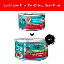 Purina ONE Grain Free Classic Beef Recipe Premium Pate Wet Cat Food - (24) 3 oz. Cans - Kaulana Pets