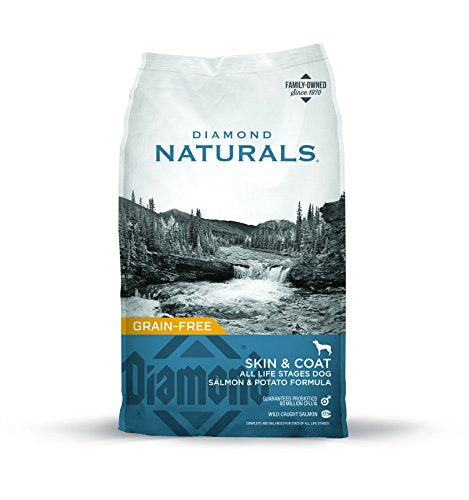 Diamond Naturals Skin & Coat Real Meat Recipe Natural Dry Dog Food with Wild Caught Salmon 30lb - Kaulana Pets