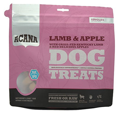 Acana Lamb and Apple Dog Treats, 3.25 oz dog treats  Kaulana Pets