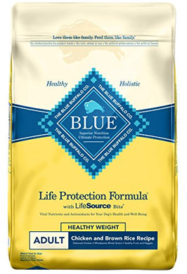 BLUE Life Protection Formula Adult Healthy Weight Chicken and Brown Rice  Dry Dog Food 30-lb - Kaulana Pets