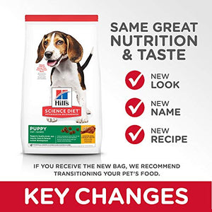 Hill's Science Diet Dry Dog Food, Puppy, Chicken Meal & Barley Recipe, 30 lb Bag - Kaulana Pets