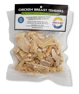 Fresh is Best Freeze-Dried Chicken Breast Tenders for Pets 3.5 oz dog treats  Kaulana Pets