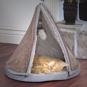 Sleep and Play Cat Bed with Removable Teepee Top - Kaulana Pets