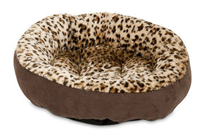 Round Bed Animal Print dog bed  Kaulana Pets