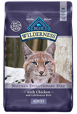 BLUE Wilderness Adult Grain Free Chicken Dry Cat Food 12-lb - Kaulana Pets