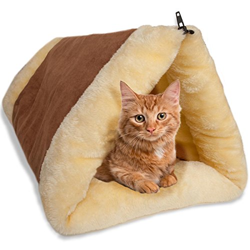 Paws & Pals 2-in-1 Cat Pet Bed Fleece Tunnel Tube cat bed  Kaulana Pets