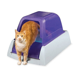PetSafe ScoopFree Ultra Self-Cleaning Cat Litter Box, Covered, Automatic with Disposable Tray, Purple - Kaulana Pets