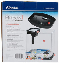 Aqueon PRODUCTS 015905178020 LED Minibow Aquarium Kit, 1 gallon, Black - Kaulana Pets
