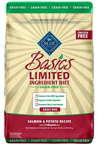 Blue Buffalo Basics Limited Ingredient Diet, Grain Free Natural Adult Dry Dog Food, Salmon & Potato 22-lb - Kaulana Pets