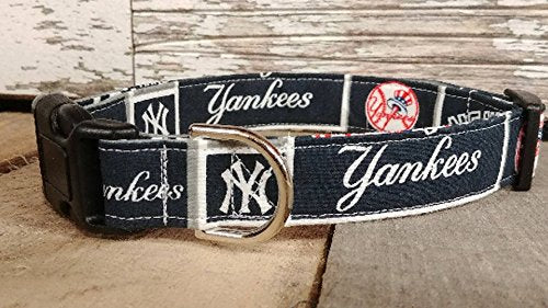 New York Yankees dog collar collar  Kaulana Pets
