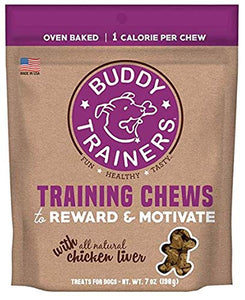 Buddy Trainers Training Chews with All Natural Chicken Liver - 2 Packs, 7 Oz Each - Plus Can Cover (3 Items Total) - Kaulana Pets