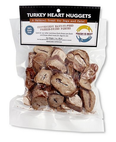 Fresh Is Best Freeze-Dried Raw Turkey Heart Fillets Treats for Dogs and Cats, 3 Oz dog treats  Kaulana Pets