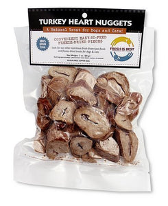 Fresh Is Best Freeze-Dried Raw Turkey Heart Fillets Treats for Dogs and Cats, 3 Oz - Kaulana Pets
