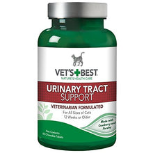 Vet's Best Cat Urinary Tract Supports Cat Supplements | Supports Cat a Healthy Urinary Tract | 60 Chewable Tablets - Kaulana Pets