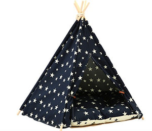 Pet Teepee Tent for Dogs or Cats dog house  Kaulana Pets