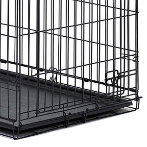 "MidWest iCrate 30"" Folding Metal Dog Crate w/ Divider Panel - Kaulana Pets"