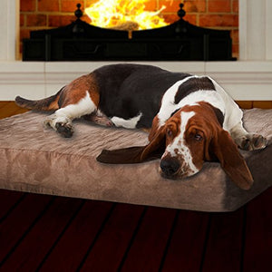 Memory Foam Dog Bed with Removable Cover - Kaulana Pets