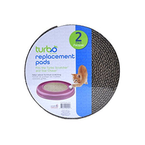 Bergan Turbo Scratcher Replacement Pads, 2 Pack - Kaulana Pets