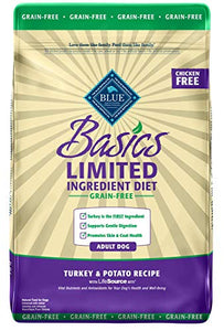 Blue Buffalo Basics Limited Ingredient Diet, Grain Free Natural Adult Dry Dog Food, Turkey & Potato 11-lb - Kaulana Pets