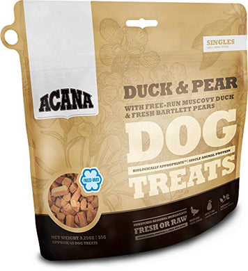Acana Duck and Pear Dog Treats, 3.25 oz dog treats  Kaulana Pets