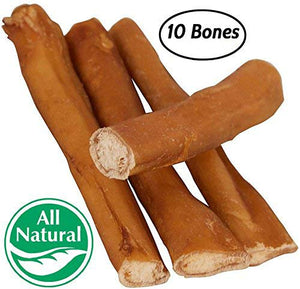 "5"" Straight Bully Sticks for Dogs or Puppies (10 Pack) All Natural & Odorless Bully Bones 