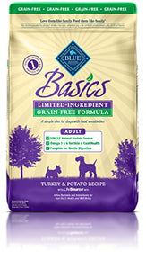 BLUE Basics Limited Ingredient Diet Adult Grain Free Turkey & Potato Dry Dog Food 24-lb - Kaulana Pets