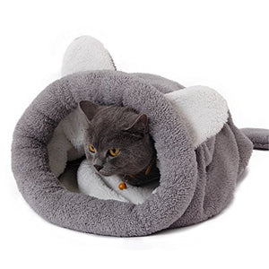 PAWZ Road Cat Sleeping Bag Self-Warming Kitty Sack Grey cat bed  Kaulana Pets