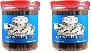 (2 Pack) Triumph Dog Salmon Jerky 24 Ounces each dog treats  Kaulana Pets