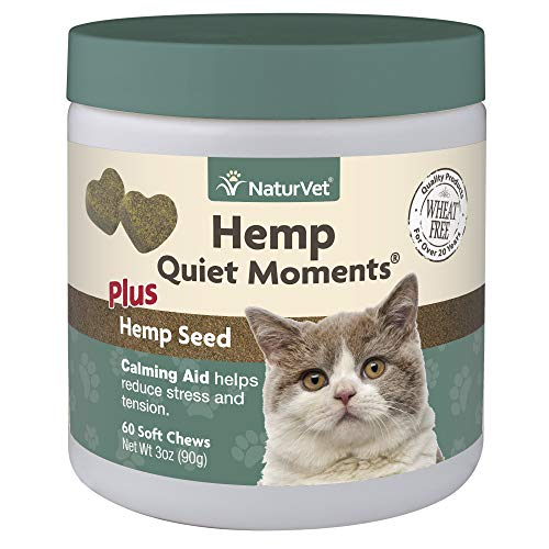 NaturVet Hemp Quiet Moments Plus Hemp Seed Soft Chews for Cats, Count of 60.5 LB - Kaulana Pets