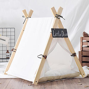 Little Dove Dog Teepee Tent dog bed  Kaulana Pets