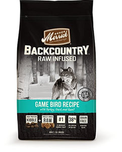 Merrick Backcountry Grain Free Raw Infused Game Bird Dry Dog Food, 22 Lbs. - Kaulana Pets