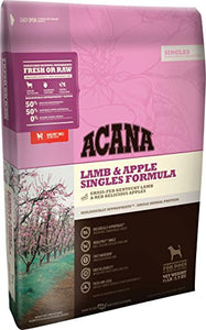 Acana Singles Lamb and Apple Dog Food - 25 lbs - Kaulana Pets