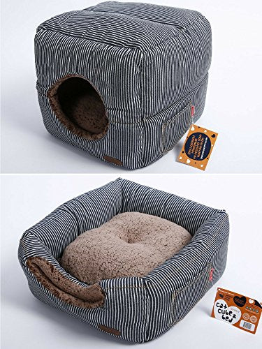 Cat Cube With Thick Organic Cotton cat bed  Kaulana Pets