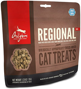Orijen Regional Red Freeze-dried Cat Treats, 1.25 Ounces - Kaulana Pets
