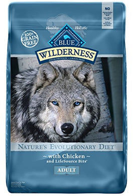 BLUE Wilderness Adult Grain Free Chicken Dry Dog Food 24-lb - Kaulana Pets