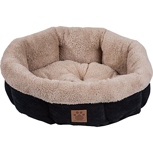 SnooZZy Mod Chic Round Shearling Bed dog bed  Kaulana Pets