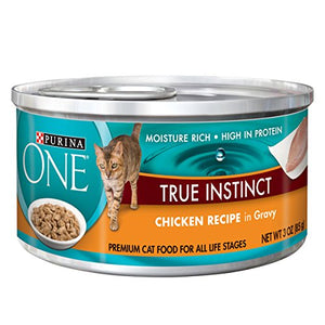 Purina ONE True Instinct In Gravy Wet Cat Food - (24) 3 oz. Cans - Kaulana Pets